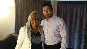 Paola Harris with Enrique Villanueva